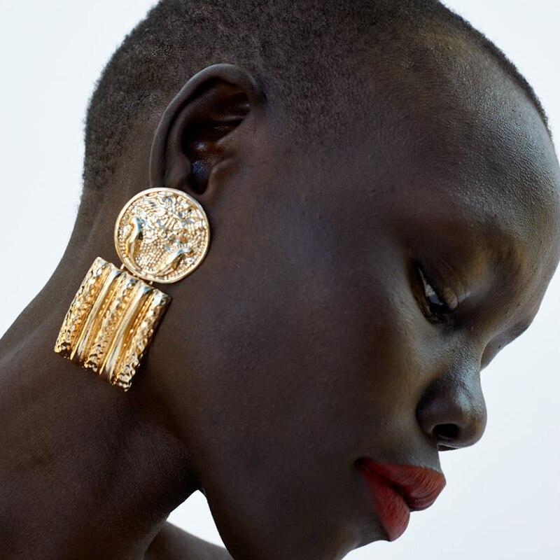 Fashion Bohemian ZA Metal Multicolored Drop Dangle Earrings CLOVER JEWELLERY