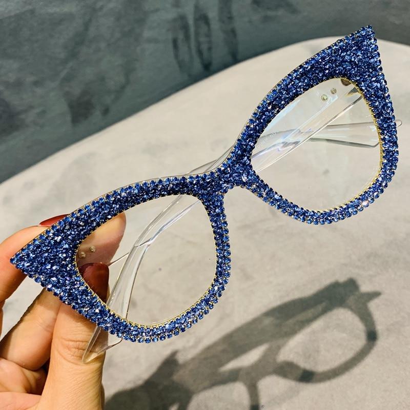 Oversized Sunglasses Women Handmade Bling Cat Eye Sunglasses for Ladies CLOVER JEWELLERY