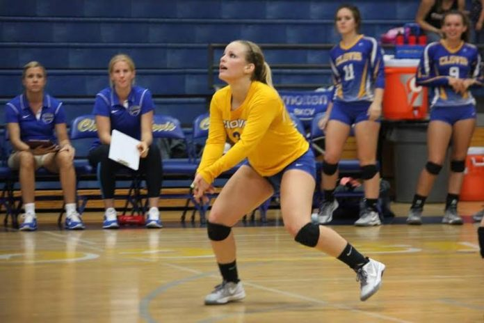 Photo by Joe Broussard Clovis' Cayla Broussard also starred on the D-1 Valley champions volleyball team and is this year's TRAC Girl's Athlete of the Year
