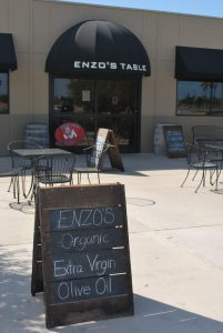 Enzo's Table offers a rich bounty of farmer's market faves from Enzo Olive Oil to nuts, honey, fresh fruit and vegetables, Fresno State ice cream, and locally roasted coffee.