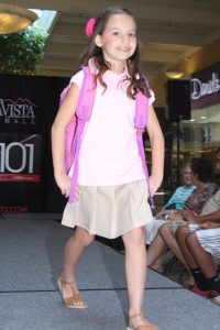 Photo courtesy of Kamarie Love Model demonstrates back-to-school separates.