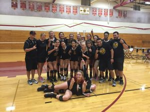 Photo courtesy of Clovis West volleyball The Golden Eagles of Clovis West strike a pose after posting a perfect 8-0 record and winning the Central California Classic Varsity Tournament in Merced over the September 11-12 weekend. Tiersa Bailey was named tournament MVP.