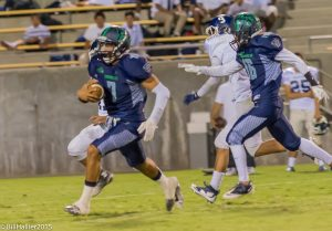 Photo by Nick Baker Marcus Washington of Clovis East is one of the top running backs in the Central Section and just a sophomore and will be a force in the TRAC again after starting last season as a freshman.