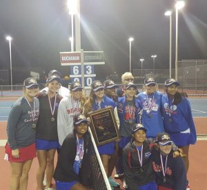 Photo Courtesy of Buchanan The Buchanan tennis team captured the 2015 Valley team tennis championship with a 6-3 victory over Stockdale of Bakersfield. It was the Bears second consecutive Valley title and their third in the past four years.