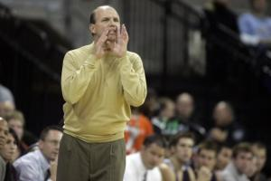 "Photo by Joel Nicholson Wearing his trademark one colored sweater during his early coaching years, Vance Walberg is the innovator of the ""dribble-drive"" offense that piqued the curiosity of prominent coaches from around the country and the world. NBA coach George Karl calls Walberg ""one of the top innovators of the game in the past 5-10 years."""