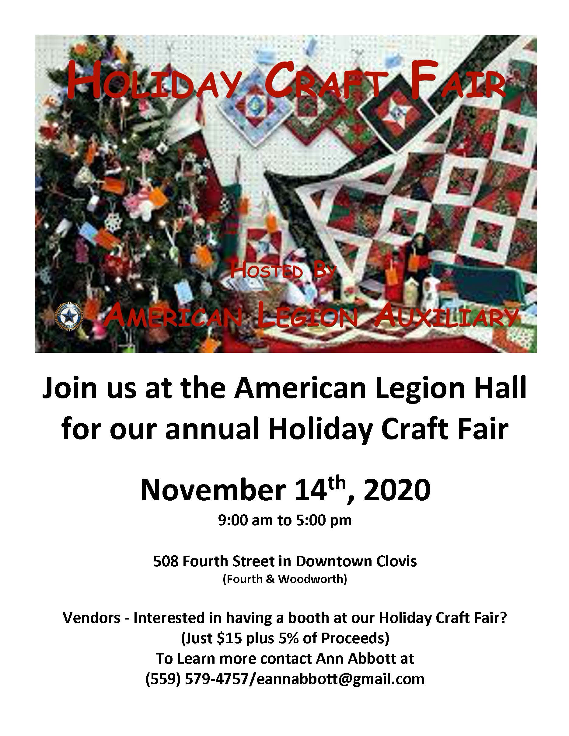 American Legion To Host Holiday Craft Fair And More Clovis Roundup