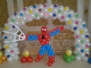 спайдермен из шаров