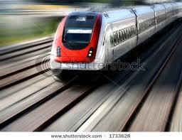 Italian Train Moving Fast