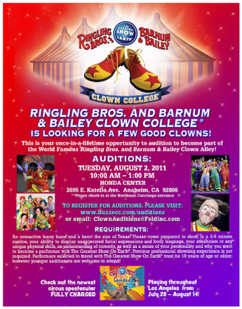 Ringling Clown Audition