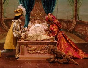 The king and queen attend the sleeping beauty