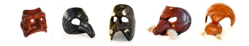 Masks by Antonio Fava