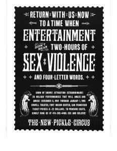 New Pickle Circus Poster