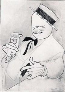 W.C. Fields drawing by Al Hirschfeld.