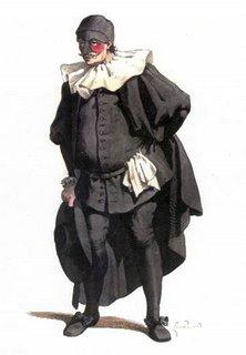 Classical  Image of Commedia Dell'arte character Il Dottore