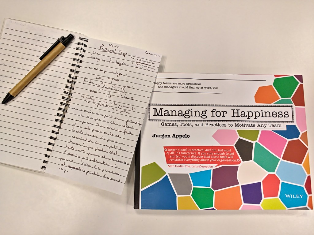 livre Managing for Happiness de Jurgen Appelo