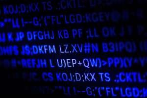 closeup of programming code and language PKGUPD