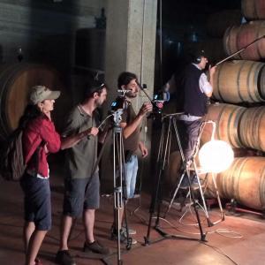 Riprese in Cantina per il Film Vino su Tela di Agnese Correa