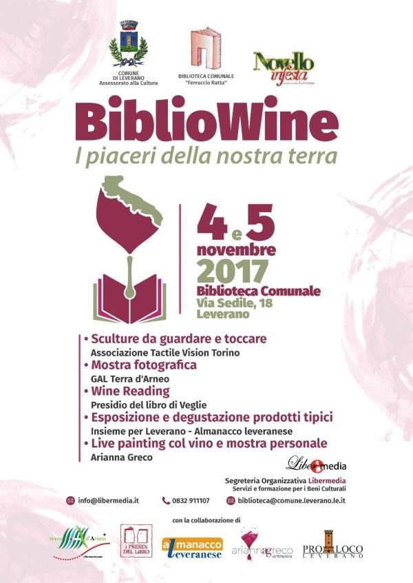 Bibliowine vino e i piaceri della nostra terra