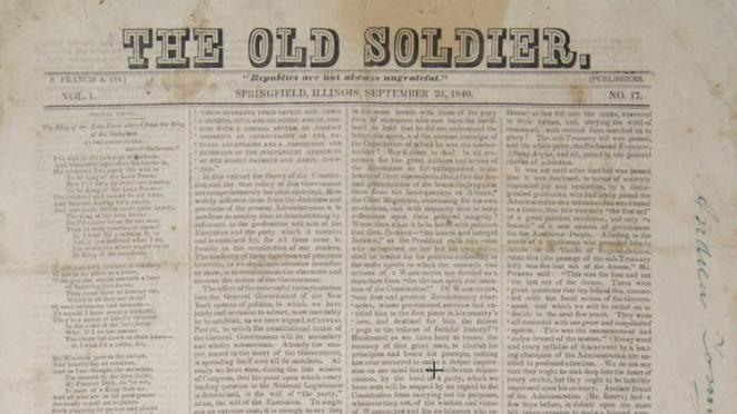 Abraham lincoln museum cover newspaper