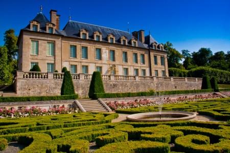 Le château d'Auvers-sur-Oise et son jardin à la française © Gilles Fey