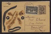 Hans Arp, Max Ernst et Tristan Tzara Carte postale adressée à Paul Eluard, 1921 Kunsthaus Zürich, © 2015 ProLitteris, Zurich / succession Tristan Tzara