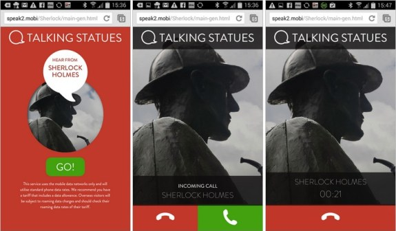 Londres talking statues talking-statues-mobile-screenshot