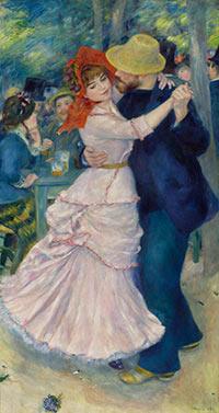 Danse à Bougival, 1883 Pierre-Auguste Renoir, Museum of Fine Arts, Boston. (c) Museum of Fine Arts, Boston