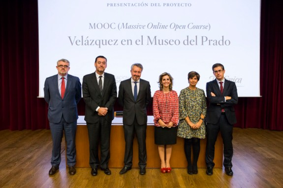 L'équipe du Musée du Prado et de Telefónica durant la conférence de presse © Musée du Prado