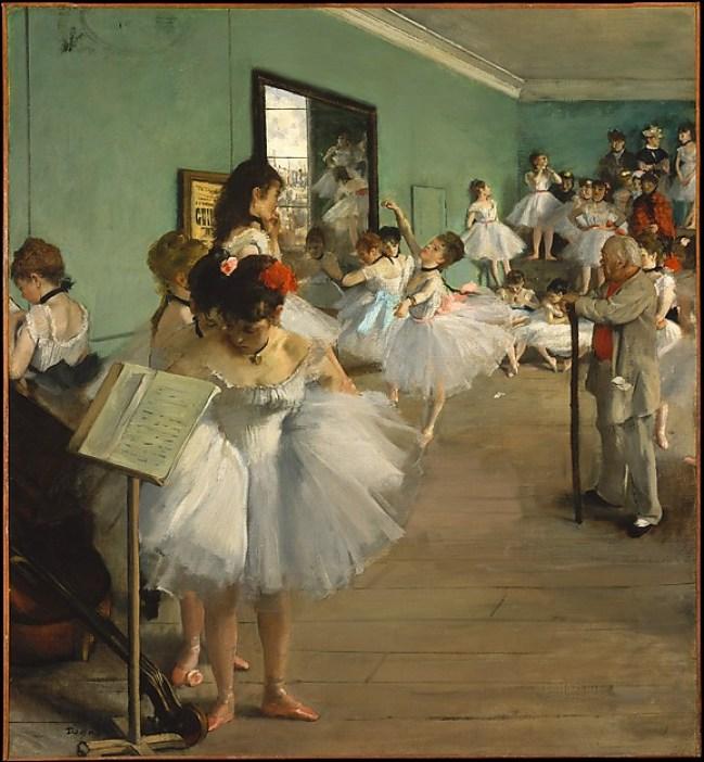 « La classe de danse » d'Edgar Degas, parmi les nombreuses oeuvres libérées par le Metropolitan Museum (Domaine Public).