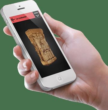 cluny app iphone_hand