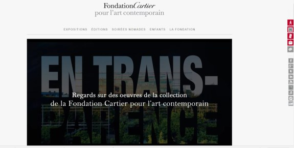 fondation cartier en transparence