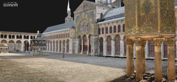 Relevé 3D de la mosquée des Omeyyades (8e siècle), à Damas, en Syrie (c) Iconem