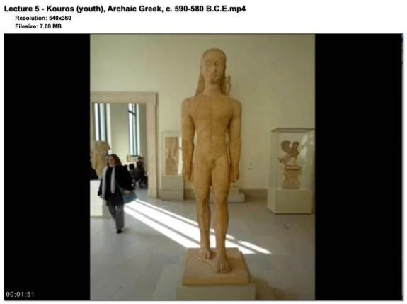 kahn acade Lecture 5 - Kouros (youth), Archaic Greek, c. 590-580 B.C.E