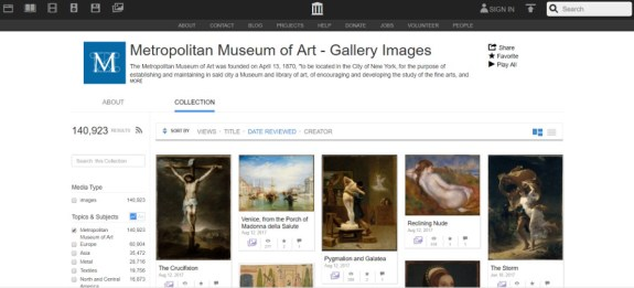 met museum internet archives site web