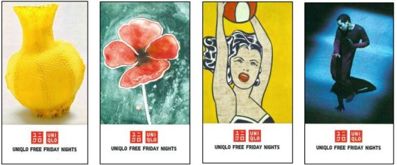Tickets de certaines soirées Uniqlo Free Friday