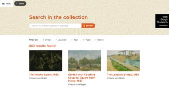 van gogh website search 8