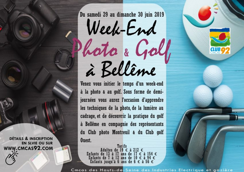 Week-end Photo & Golf à Bellême les 29 & 30 juin 2019