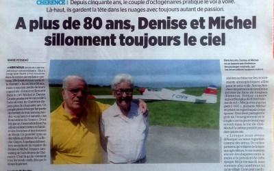 «Là-haut, on est avec les éléments » : à plus de 80 ans, les pilotes Denise et Michel volent toujours à Chérence