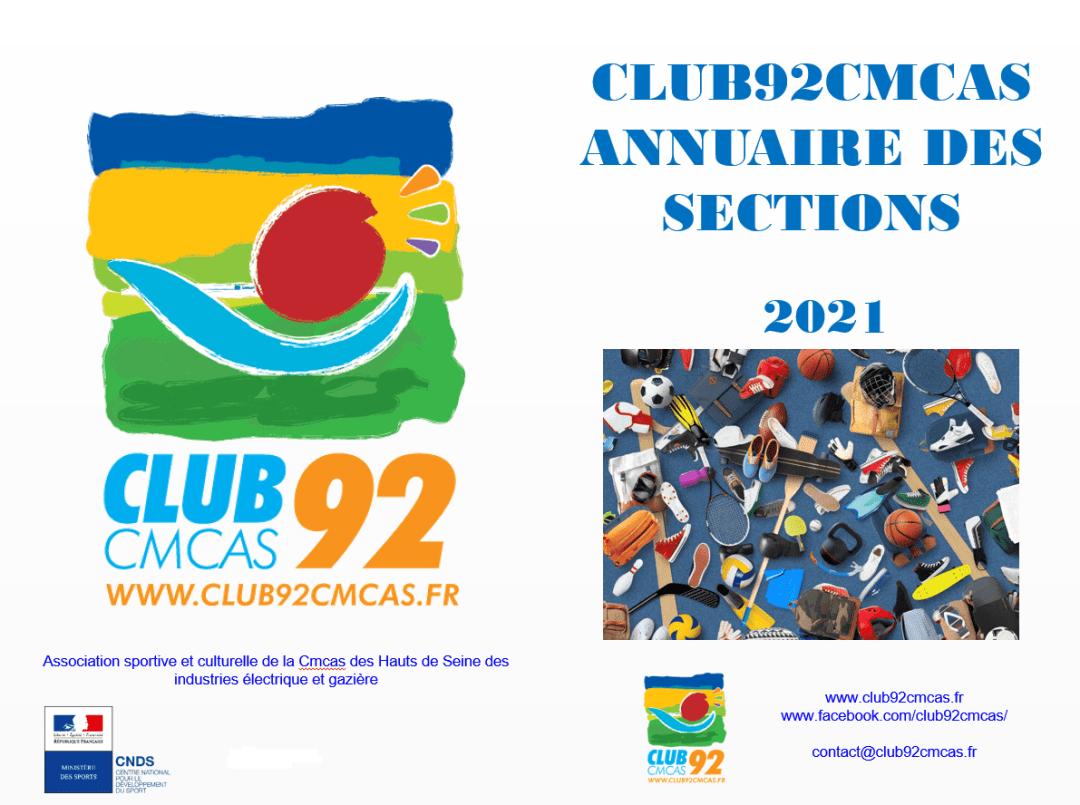 Club92Cmcas - Annuaire - 2021