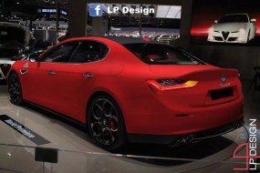 Alfa Romeo Giulia Render rosso