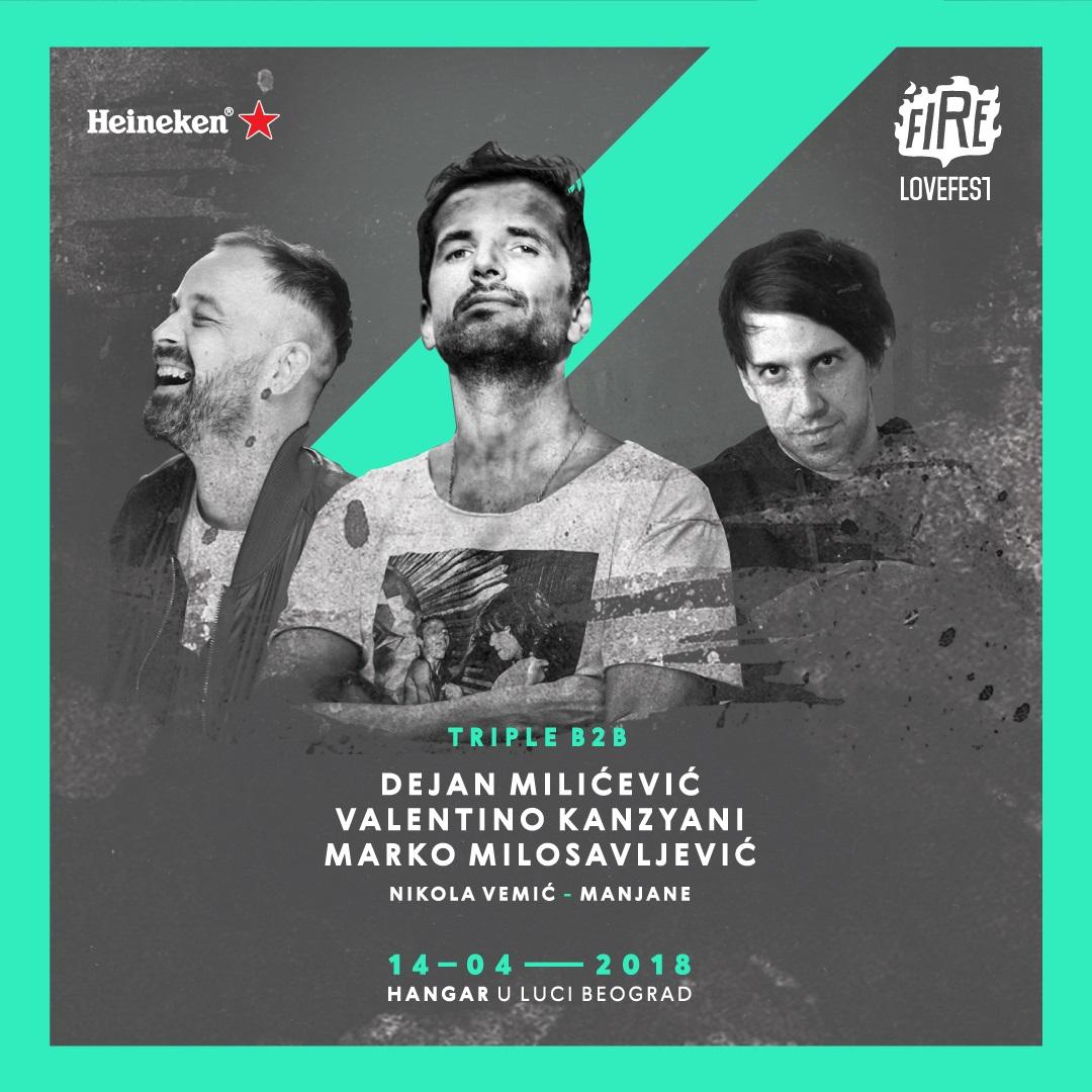 Večeras u Hangaru nesvakidašnji nastup Valentina Kanzyani-ja, Dejana Milićevića i Marka Milosavljevića - TRIPLE B2B