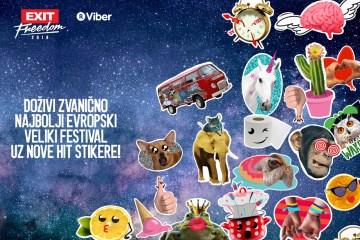 EXIT svoj 18. rođendan slavi uz nove stikere dostupne za preko milijardu Viber korisnika