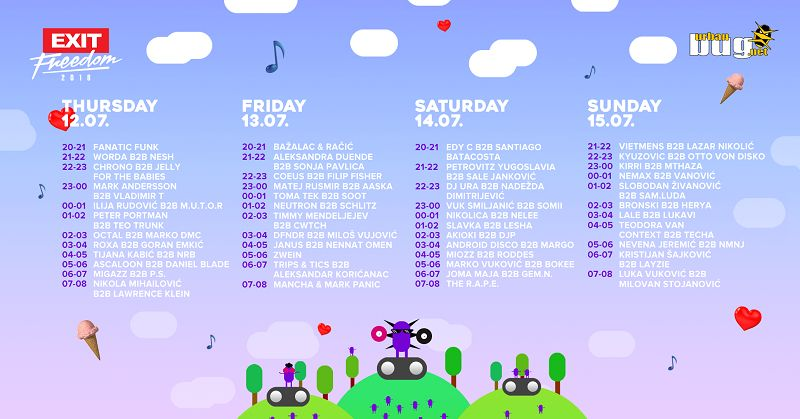 Posetite Urban Bug Stejdž na Exit Festivalu