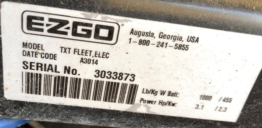 Ezgo-serial Number