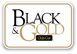 2014 Black Gold Button - Club Car Onward - Lithium Ion