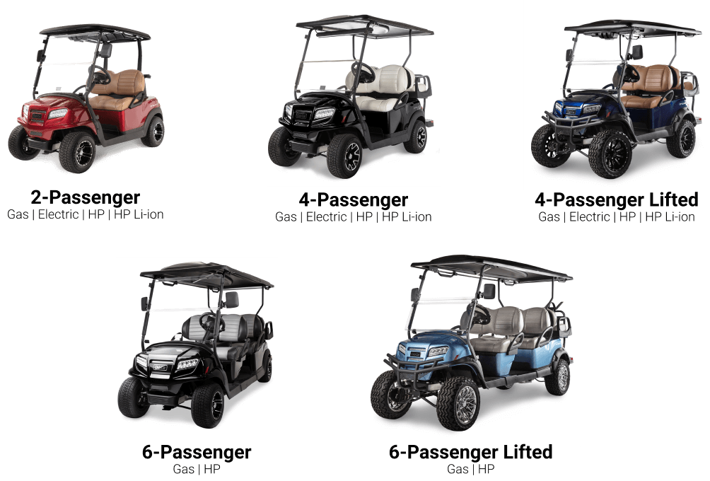 Available Model Graphic - Club Car Onward