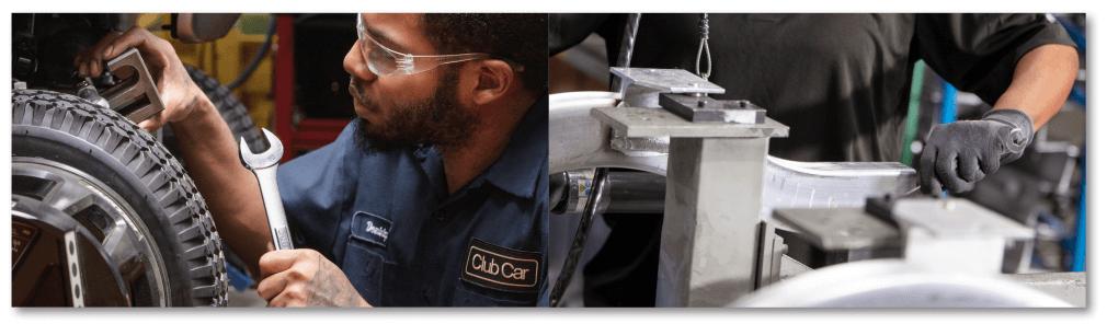 corrosion resistant aluminum frame - Club Car Onward