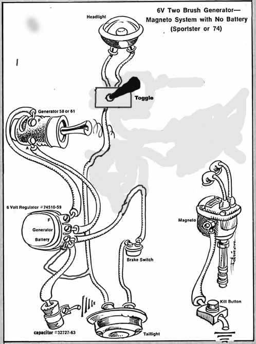 harley ignition wiring diagram as well shovelhead