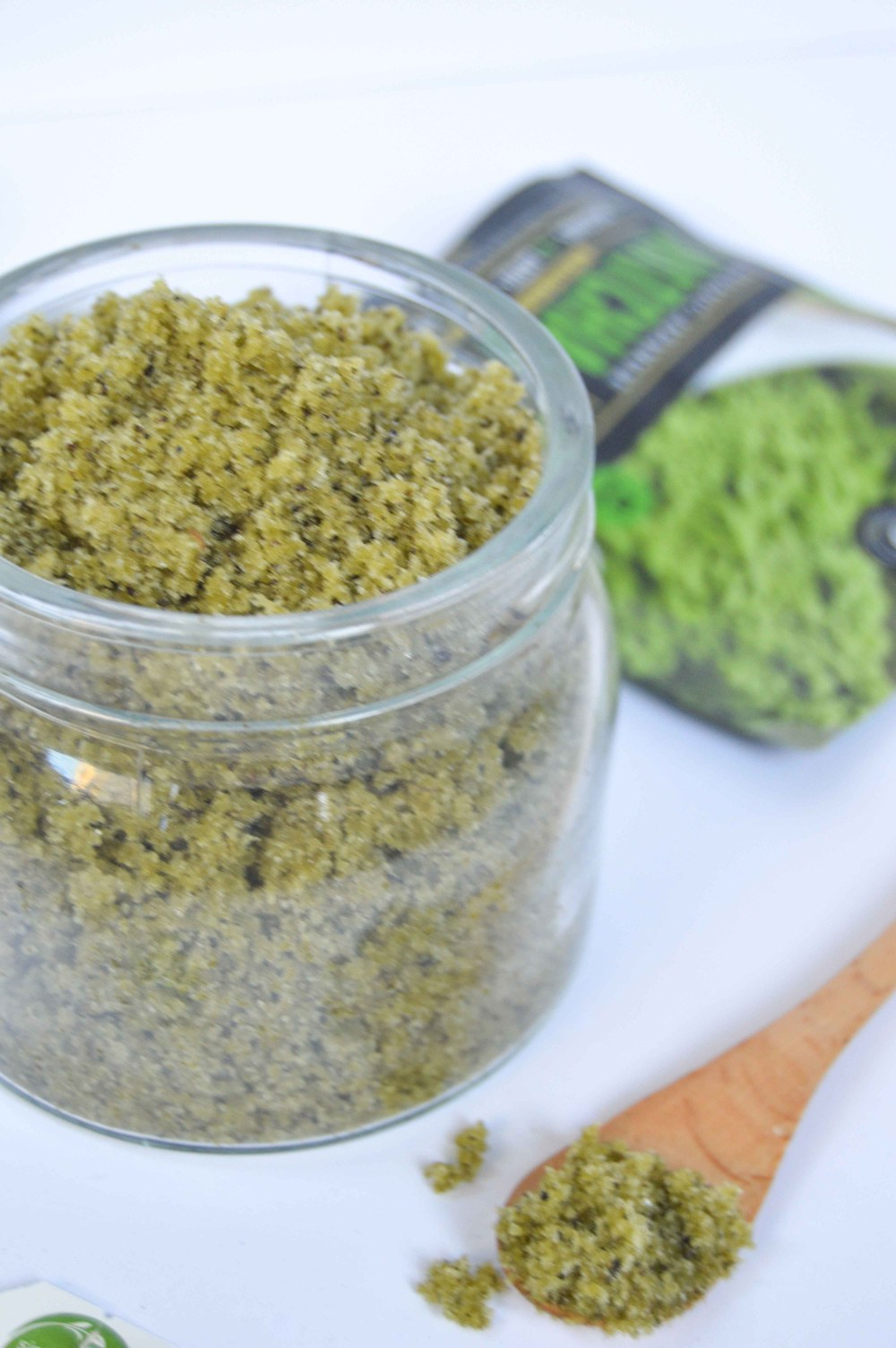 DIY Green Tea Sugar Scrub | www.clubcrafted.com