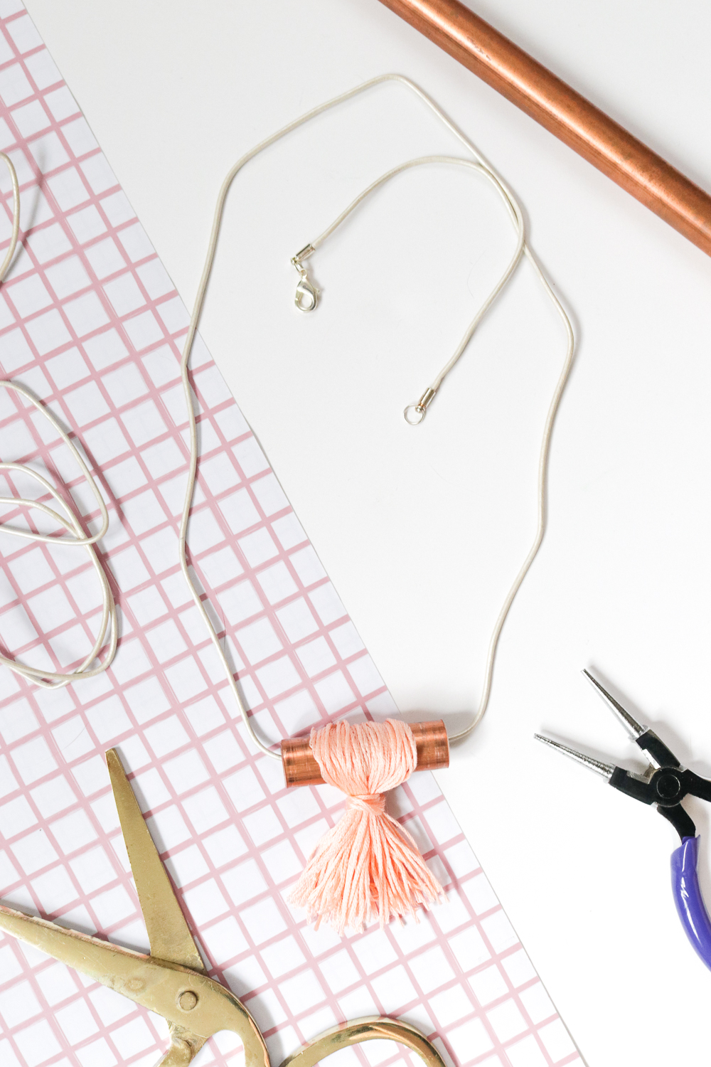 DIY Copper Pipe Necklace | Club Crafted